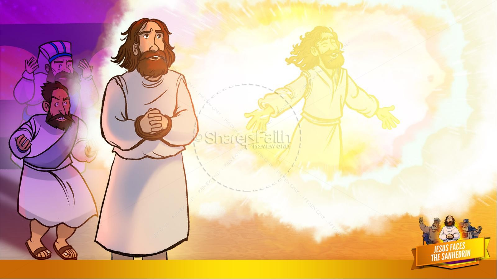 Matthew 26 Jesus Before the Sanhedrin Kids Bible Story | slide 26