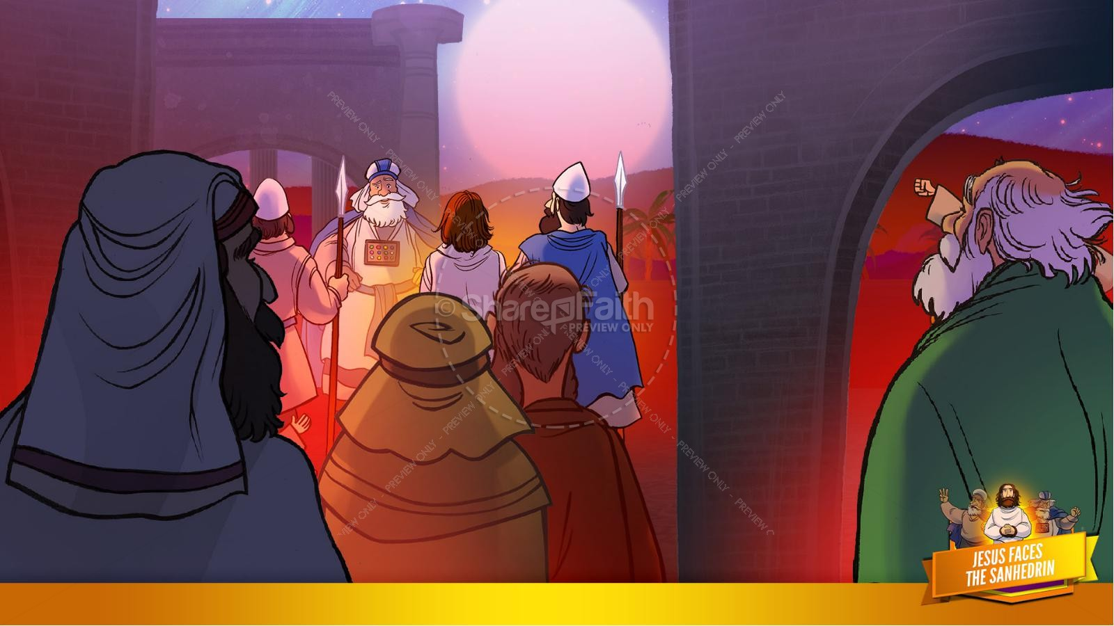 Matthew 26 Jesus Before the Sanhedrin Kids Bible Story | slide 10