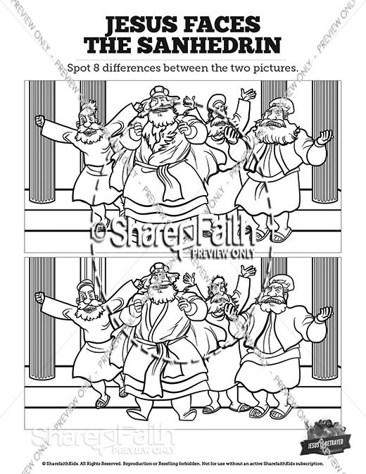 Matthew 26 Jesus Before the Sanhedrin Spot the Differences