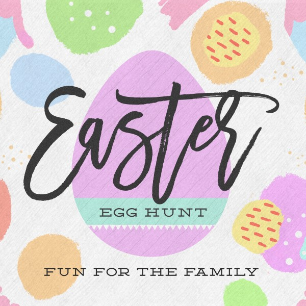 Easter Egg Hunt Pastel Social Media Graphic