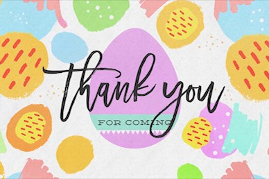 Easter Egg Hunt Pastel Goodbye Motion Graphic