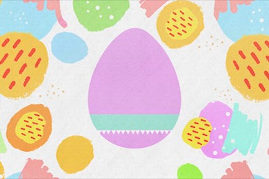Easter Egg Hunt No Text Motion Graphic