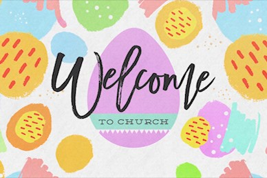 Easter Egg Hunt Pastel Welcome Motion Graphic