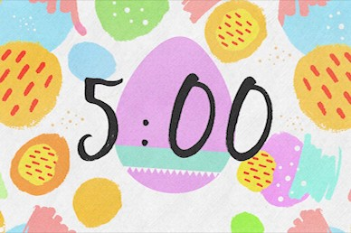 Easter Egg Hunt Pastel Countdown Video