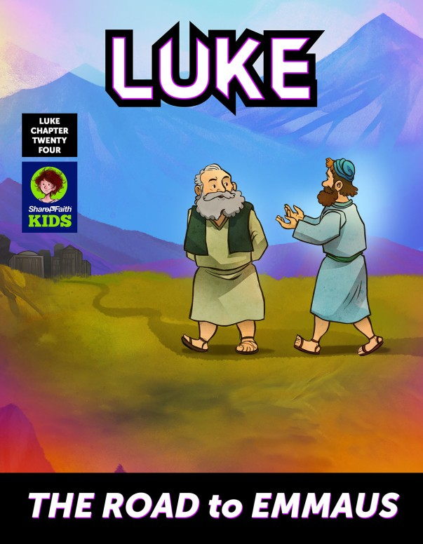 Luke 24 Road to Emmaus Digital Comic