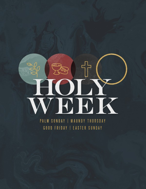 Holy Week Marble Church Flyer