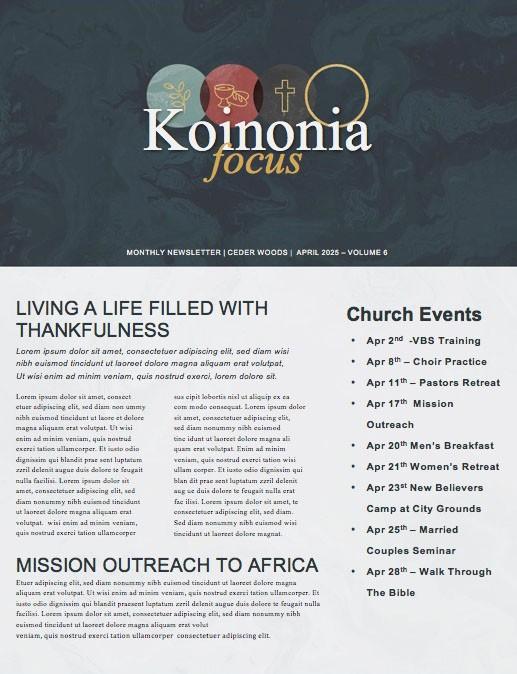 Holy Week Marble Church Newsletter