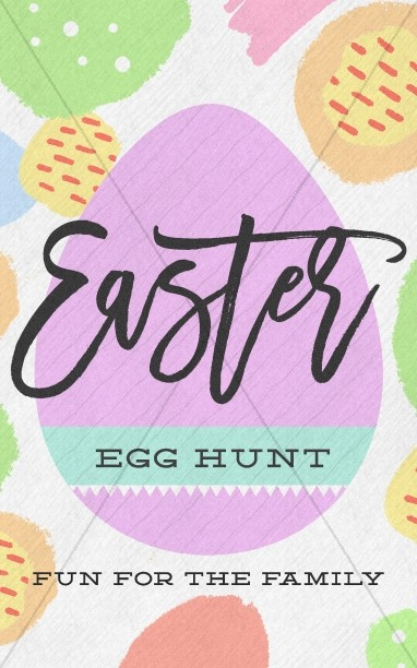 Easter Egg Hunt Pastel Bifold Bulletin