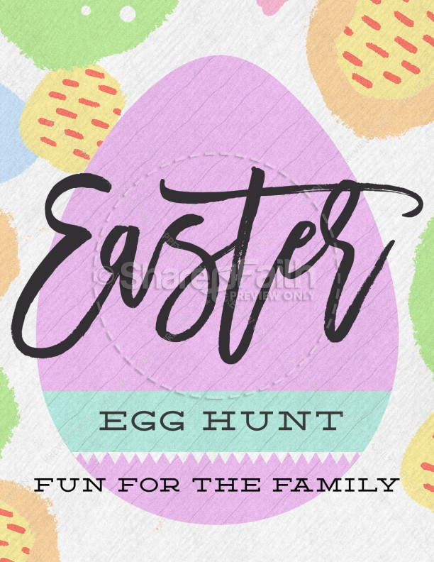 Easter Egg Hunt Pastel Church Flyer