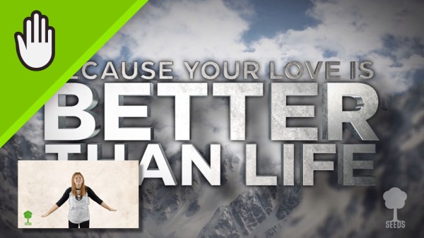 Better Than Life Kids Worship Video for Kids Hand Motions