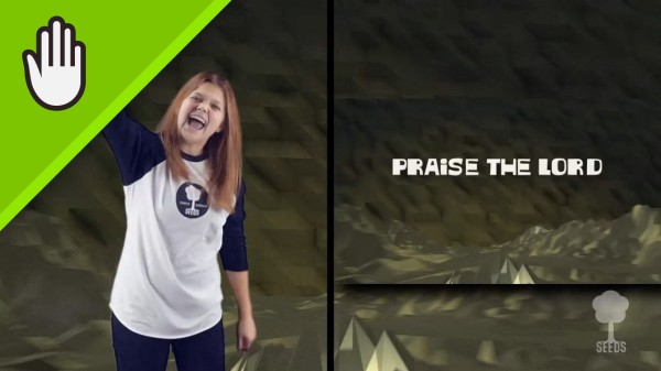 Praise the Lord Kids Worship Video for Kids Hand Motions Split Screen