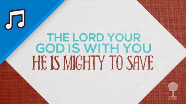 Mighty To Save Kids Worship Video for Kids Instrumental