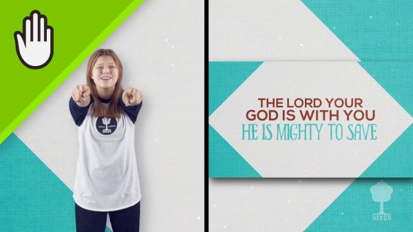 Mighty To Save Kids Worship Video for Kids Hand Motions Split Screen