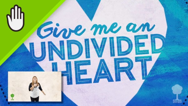 Undivided Heart Kids Worship Video for Kids Hand Motions