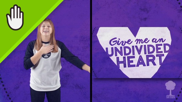 Undivided Heart Kids Worship Video for Kids Hand Motions Split Screen
