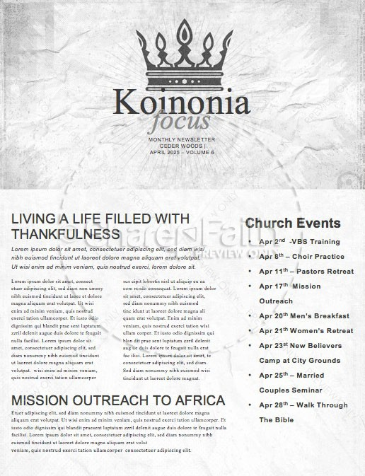 Death To Life Church Newsletter