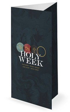 Holy Week Marble Trifold Bulletin