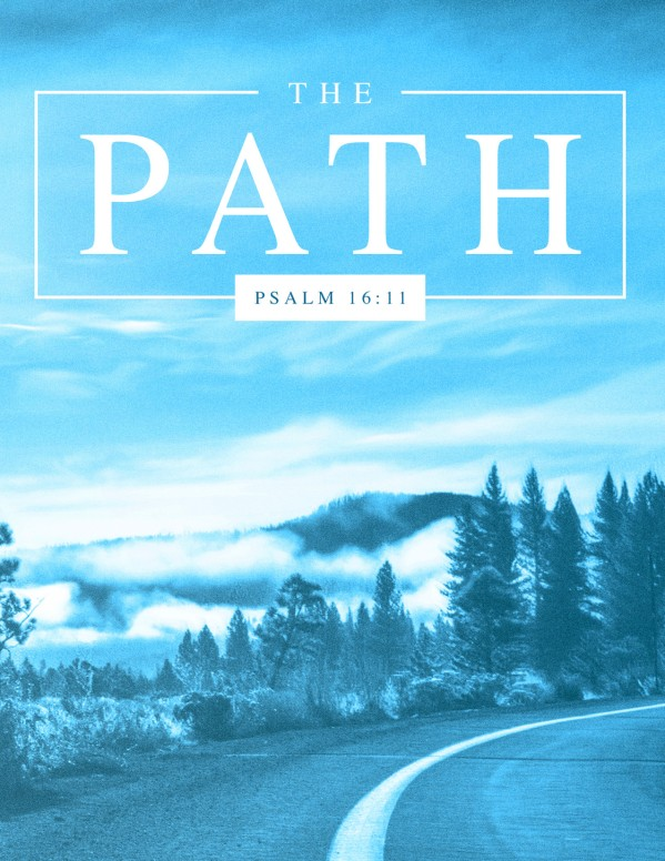 The Path Blue Church Flyer