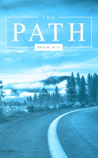 The Path Blue Church Bifold Bulletin