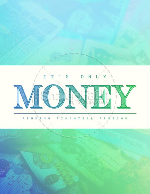 It's Only Money Church Flyer