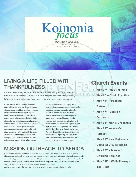 It's Only Money Church Newsletter