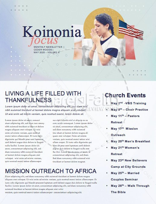 National Day Of Prayer Church Newsletter