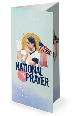 National Day Of Prayer Trifold Church Bulletin