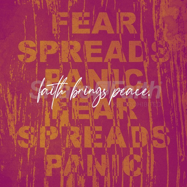 Faith Brings Peace Social Media Graphic