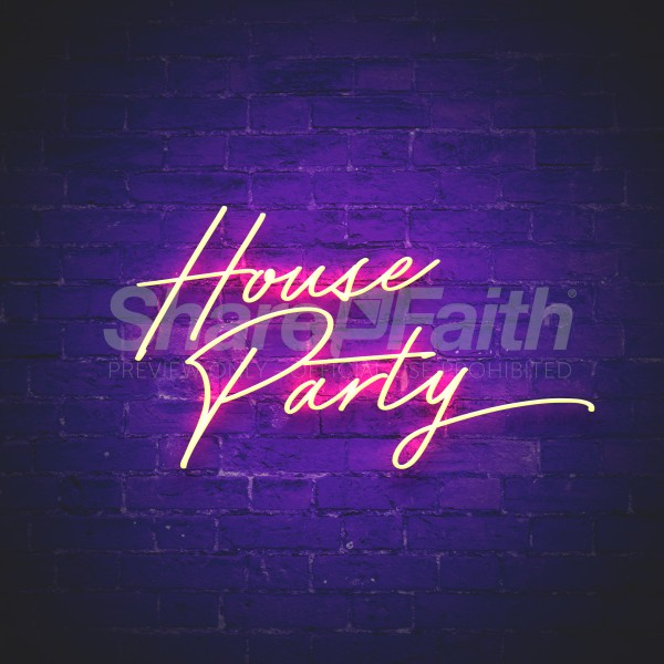 House Party Social Media Graphic