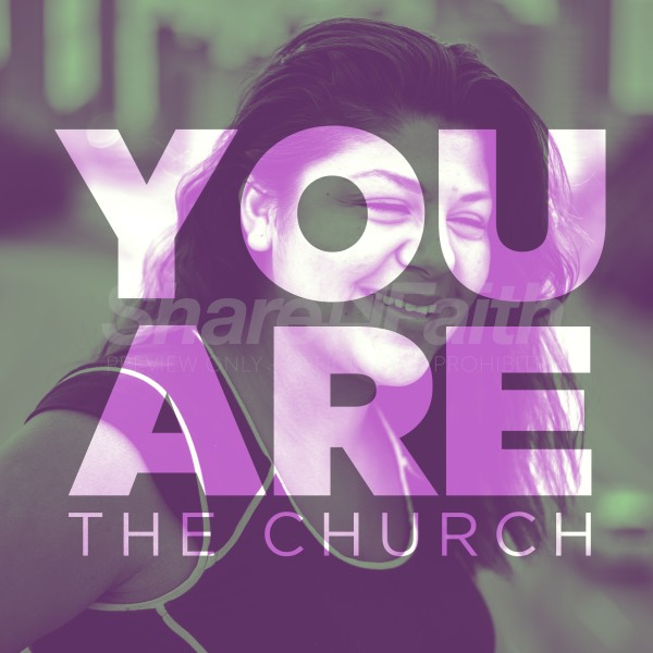You Are The Church Purple Social Media Graphic