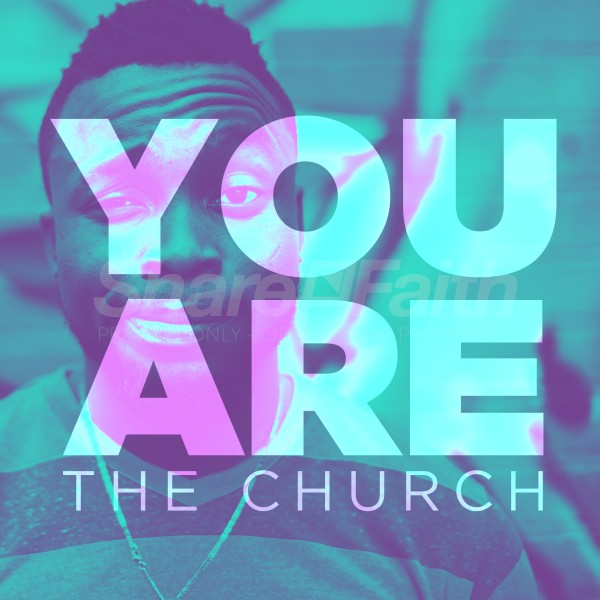 You Are The Church Blue Social Media Graphic