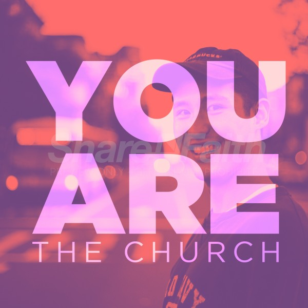 You Are The Church Pink Social Media Graphic