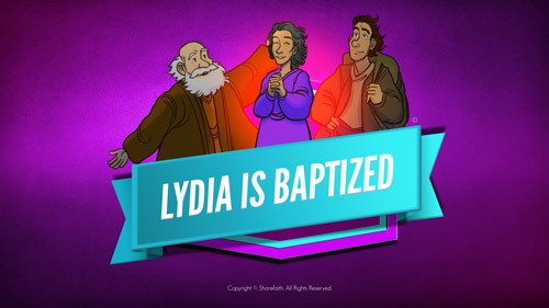 Acts 16 Lydia is Baptized Bible Video for Kids