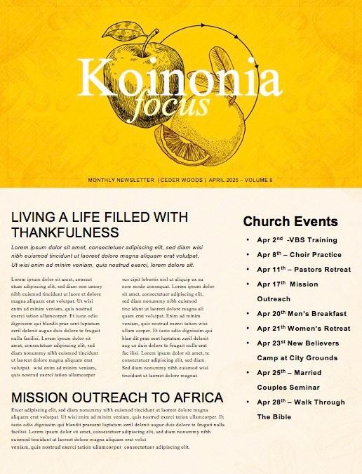 Comparison Trap Church Newsletter