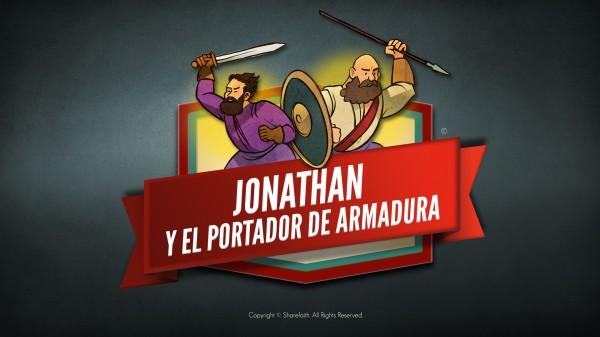 Video de la Biblia de Jonathan y su portador de armadura para niños