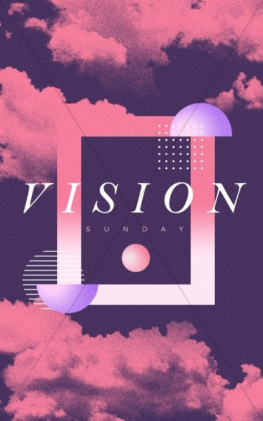 Vision Sunday Purple Church Bifold Bulletin