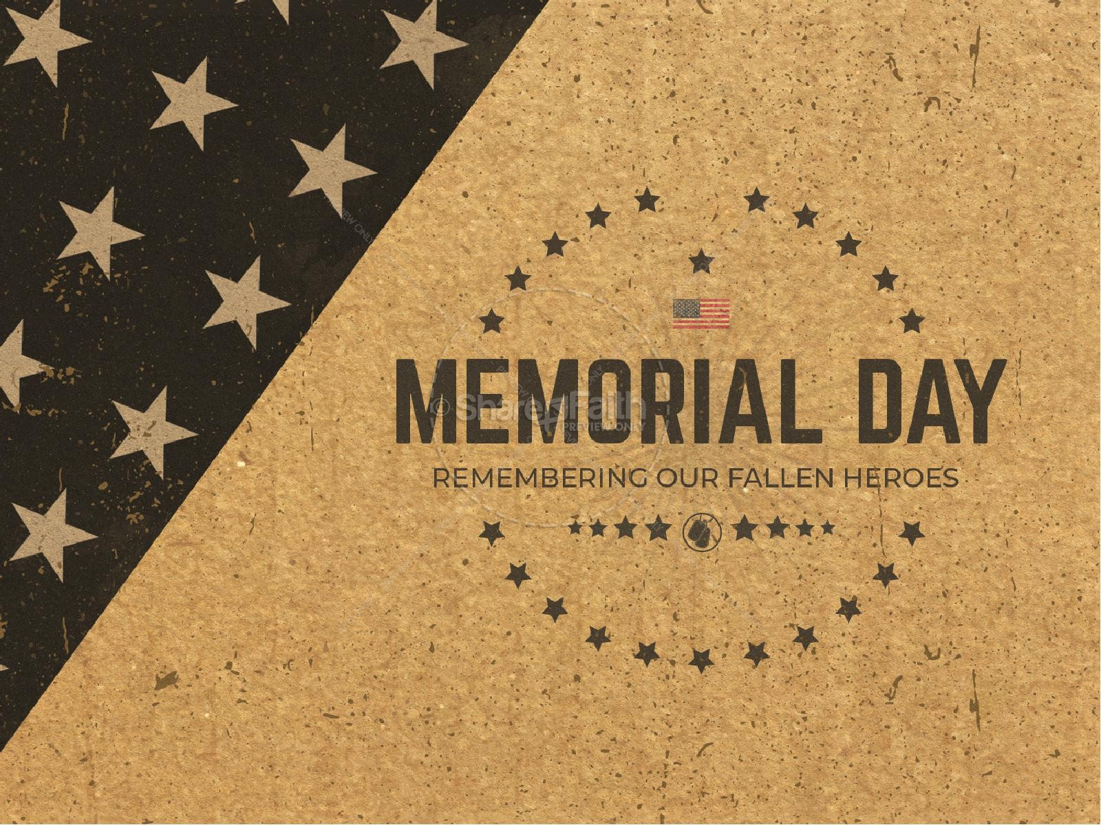 Memorial Day Cork Church PowerPoint