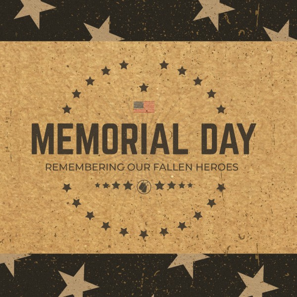 Memorial Day Cork Social Media Graphic