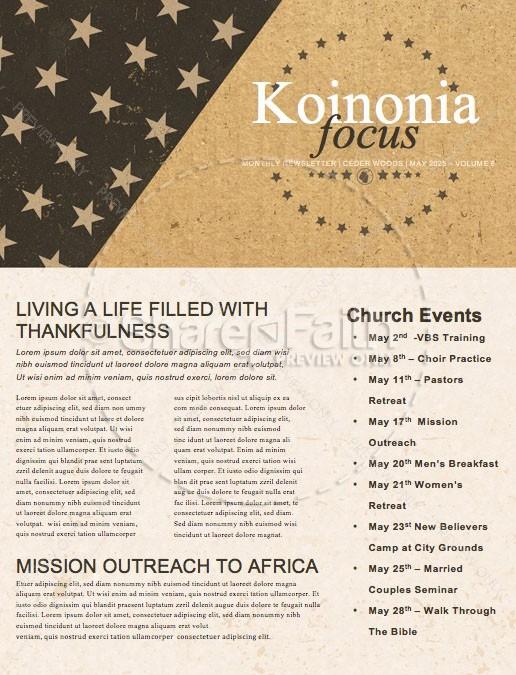 Memorial Day Cork Church Newsletter