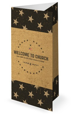 Memorial Day Cork Trifold Church Bulletin