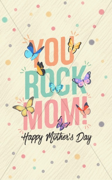Mother's Day You Rock Church Bifold Bulletin
