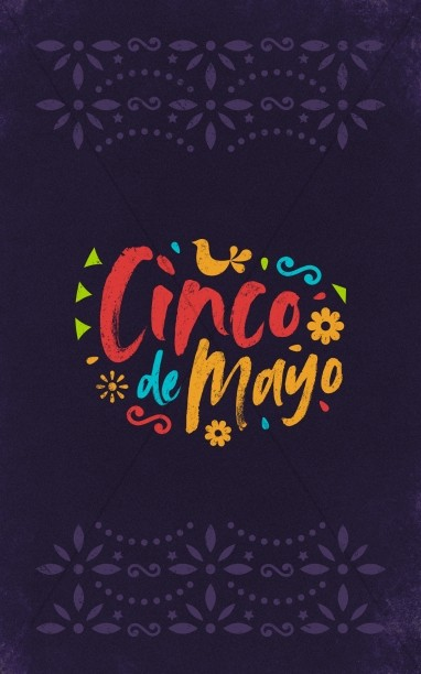Cinco De Mayo Purple Church Bifold Bulletin