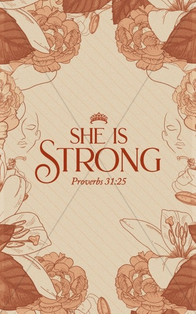 She Is Strong Church Bifold Bulletin