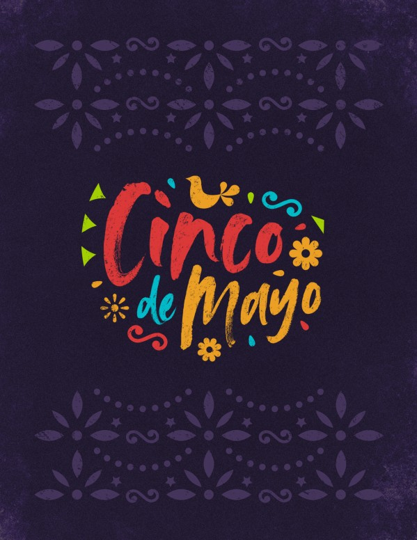 Cinco De Mayo Purple Church Flyer
