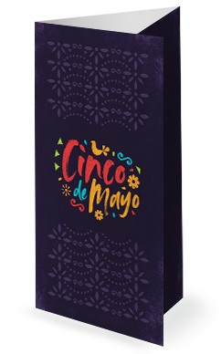 Cinco De Mayo Purple Church Trifold Bulletin