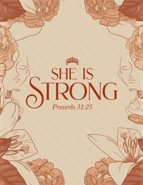 She Is Strong Church Flyer