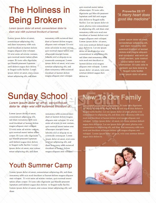She Is Strong Church Newsletter