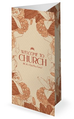 She Is Strong Church Trifold Bulletin