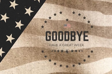 Memorial Day Goodbye Church Motion Graphic