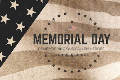 Memorial Day Title Church Motion Graphic